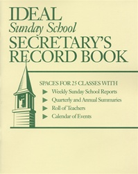 Ideal Sunday School Secretary's Record Book
